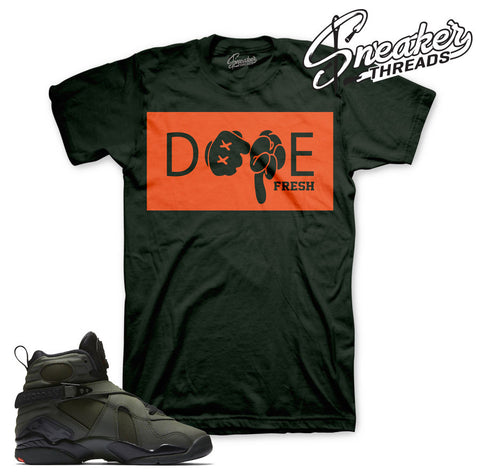 Match Jordan 8 take flight tees retro 8 sequoia shirts.
