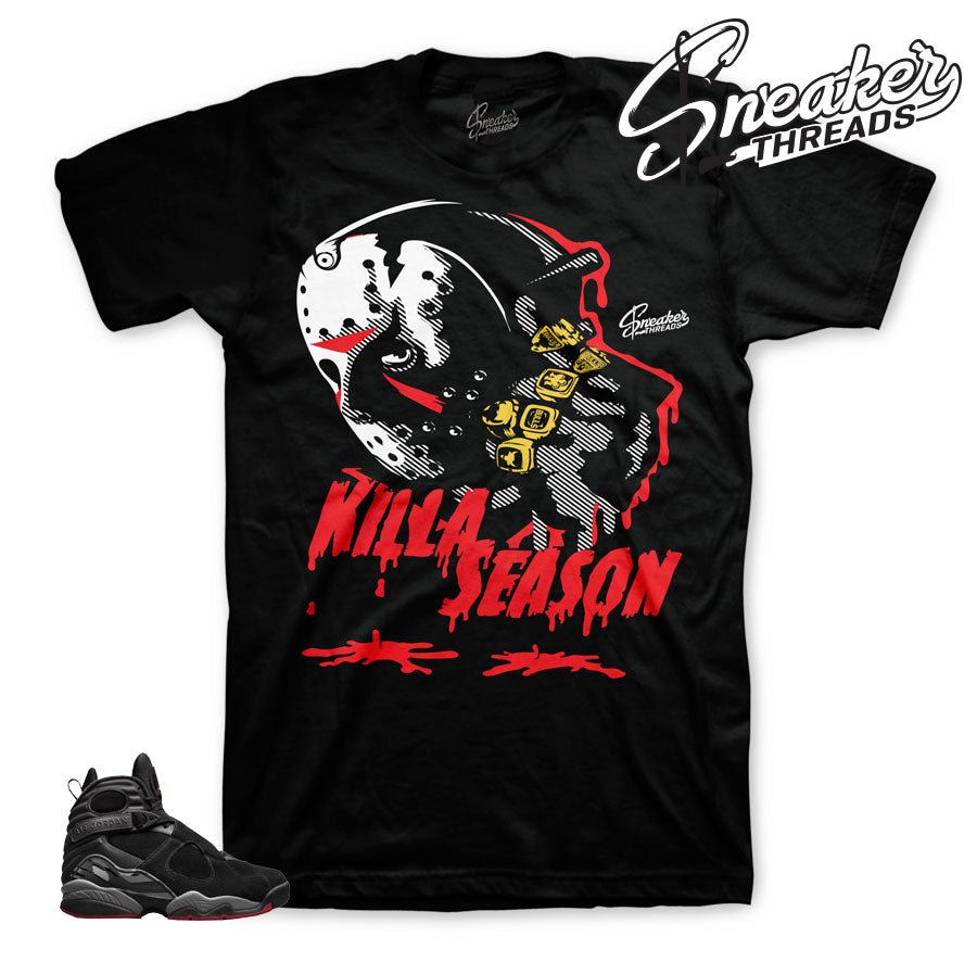Bred jordan 8 shirts and tees match | Cement retro 8 clothing.