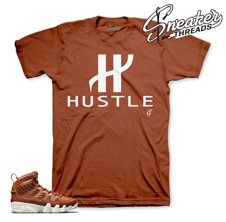 Jordan 9 baseball glove shirt match hazelnut Jordan 9 shoes.