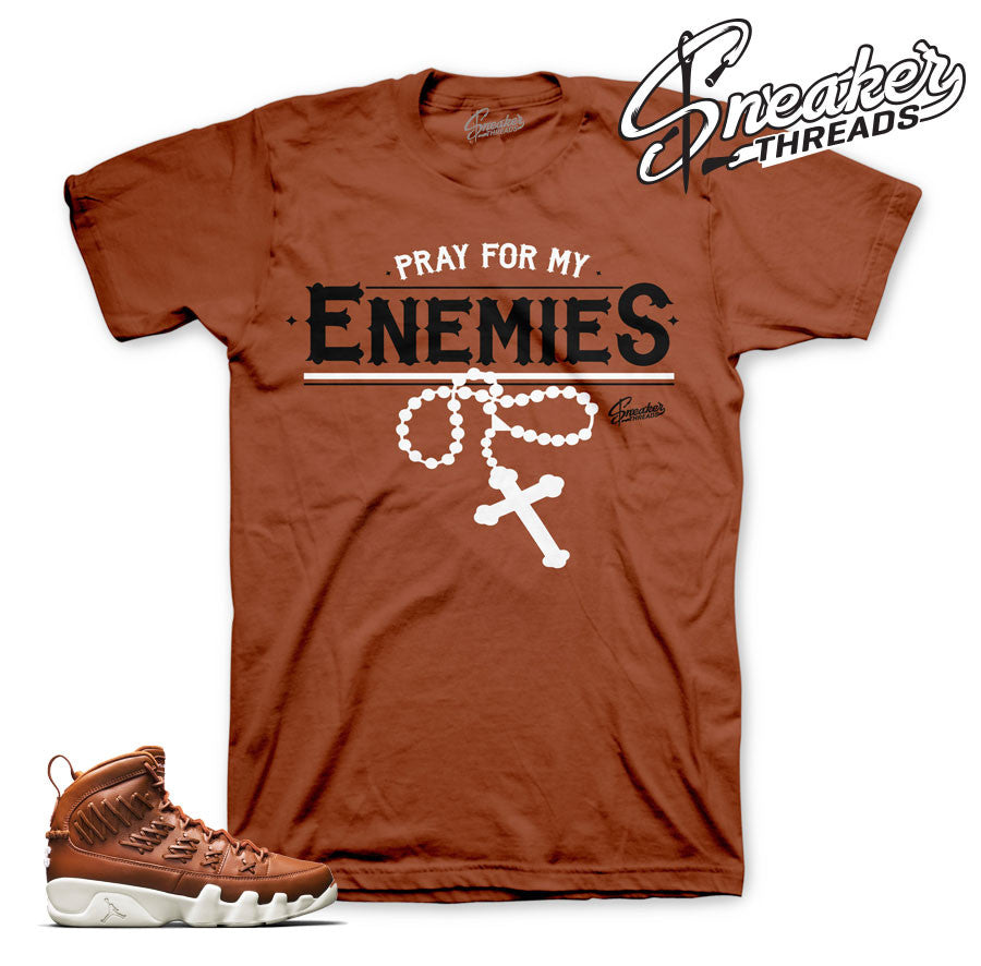 Jordan 9 baseball glove tees match hazelnut sneaker shirts.