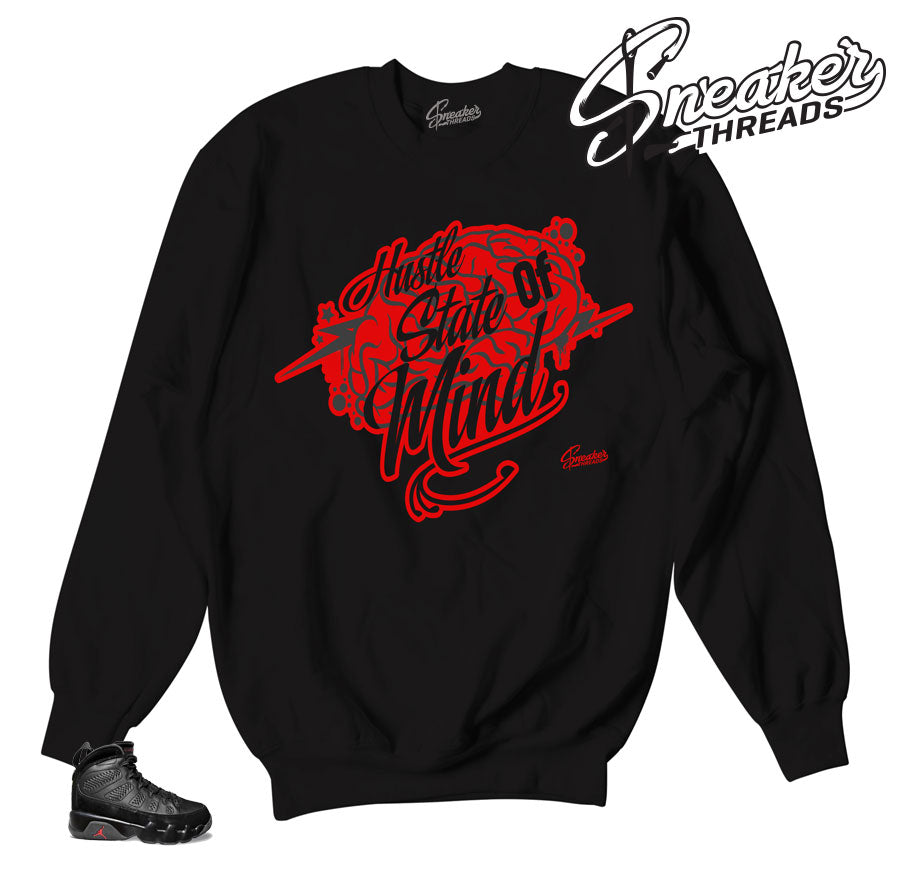 Sweaters match Jordan 9 bred shoes | Sneaker matching sweaters.