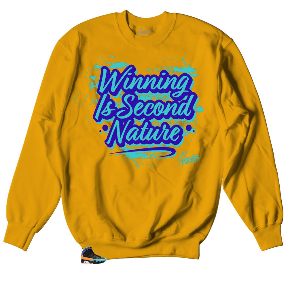 40bad7ab0968 Crewneck sweaters made to match Jordan 9 dream it do it sneaker bhm  collection