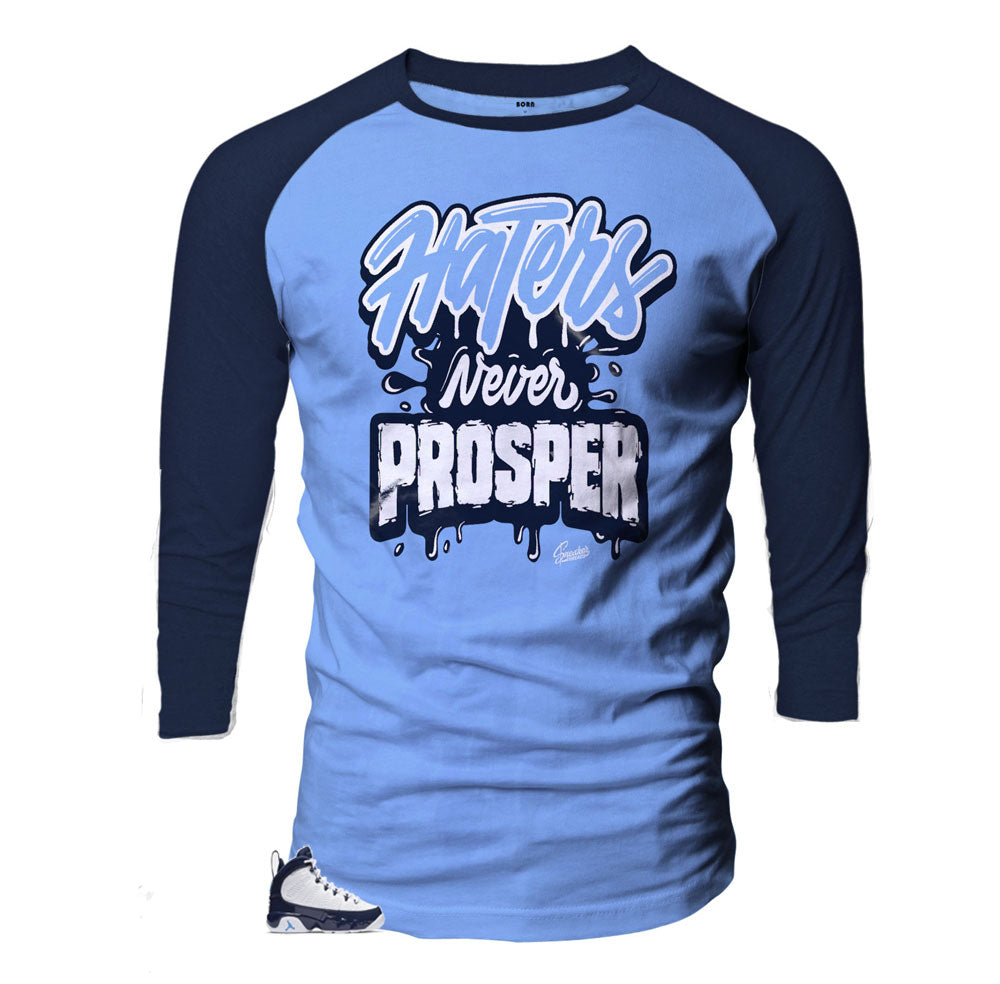 Raglan shirt collection designed to match Jordan 9 unc all star shoes