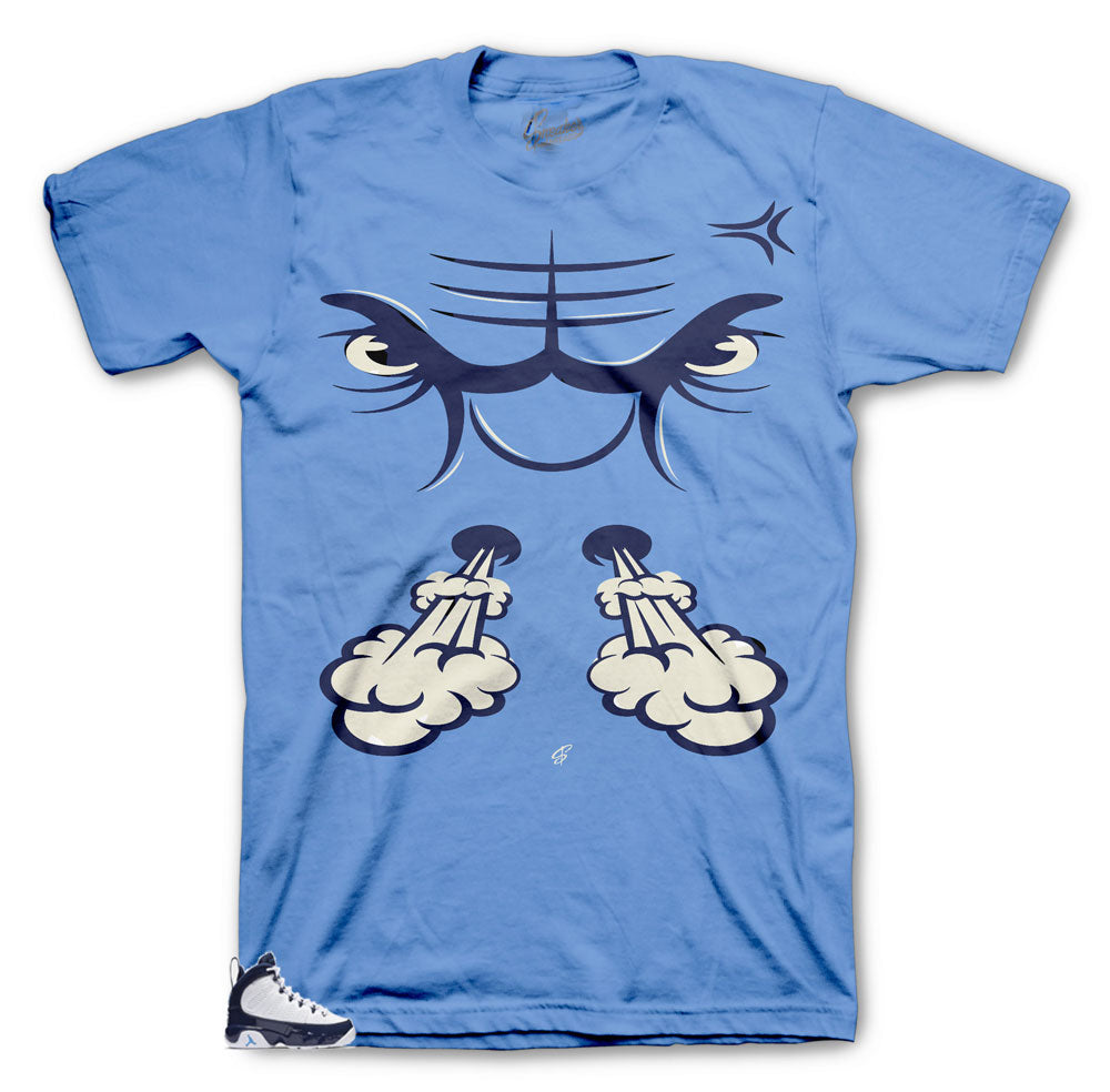 Jordan 9 sneaker UNC has shirt to match