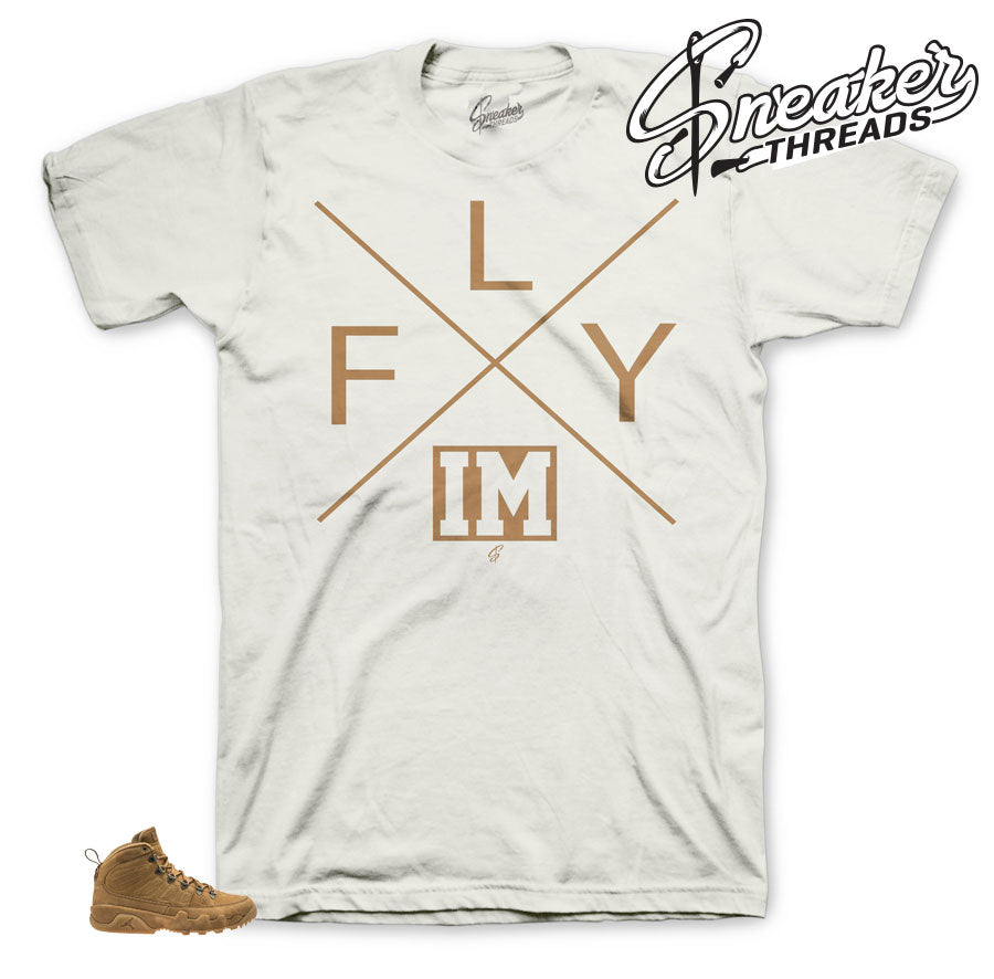 Jordan 9 Wheat Boot Fly shirt