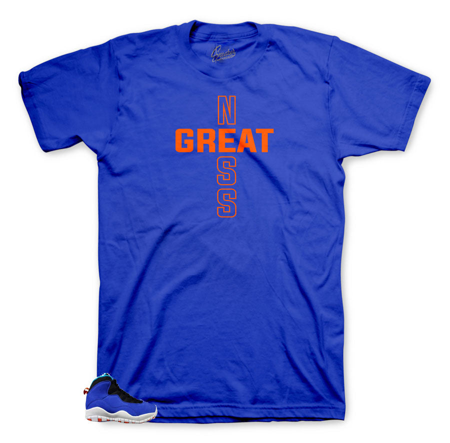 Jordan 10 Tinker Greatness shirt to match perfect