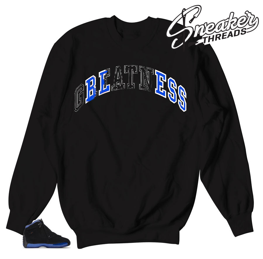 Stitched Royal sweaters to match Royal 18's