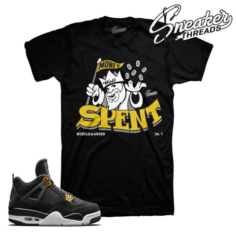 Jordan 4 royalty t-shirts match retro 4 sneaker tees.
