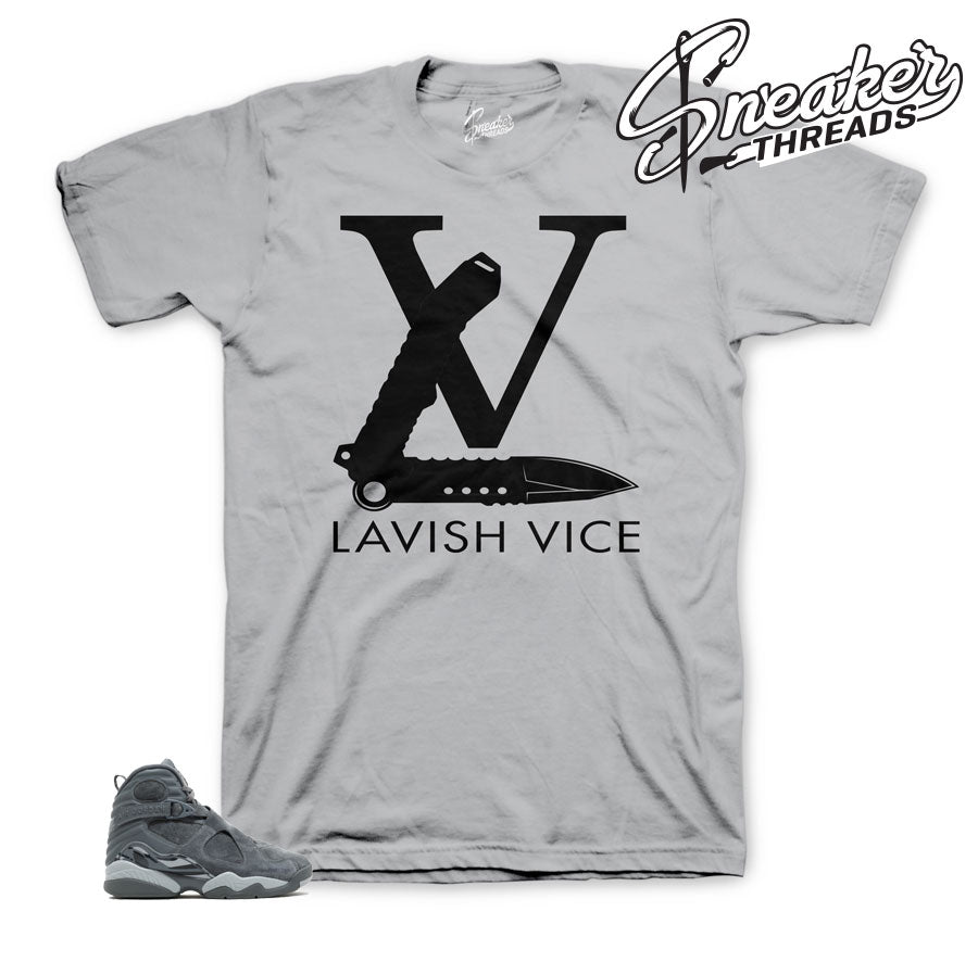 Cool grey jordan 8 tees match | Official sneaker shirts match retro 8.