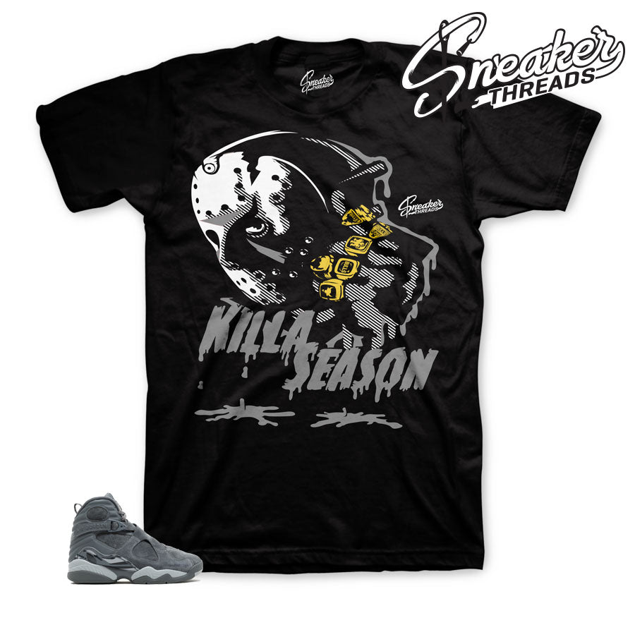 Jordan 8 cool grey shirts match retro 8 shoes.