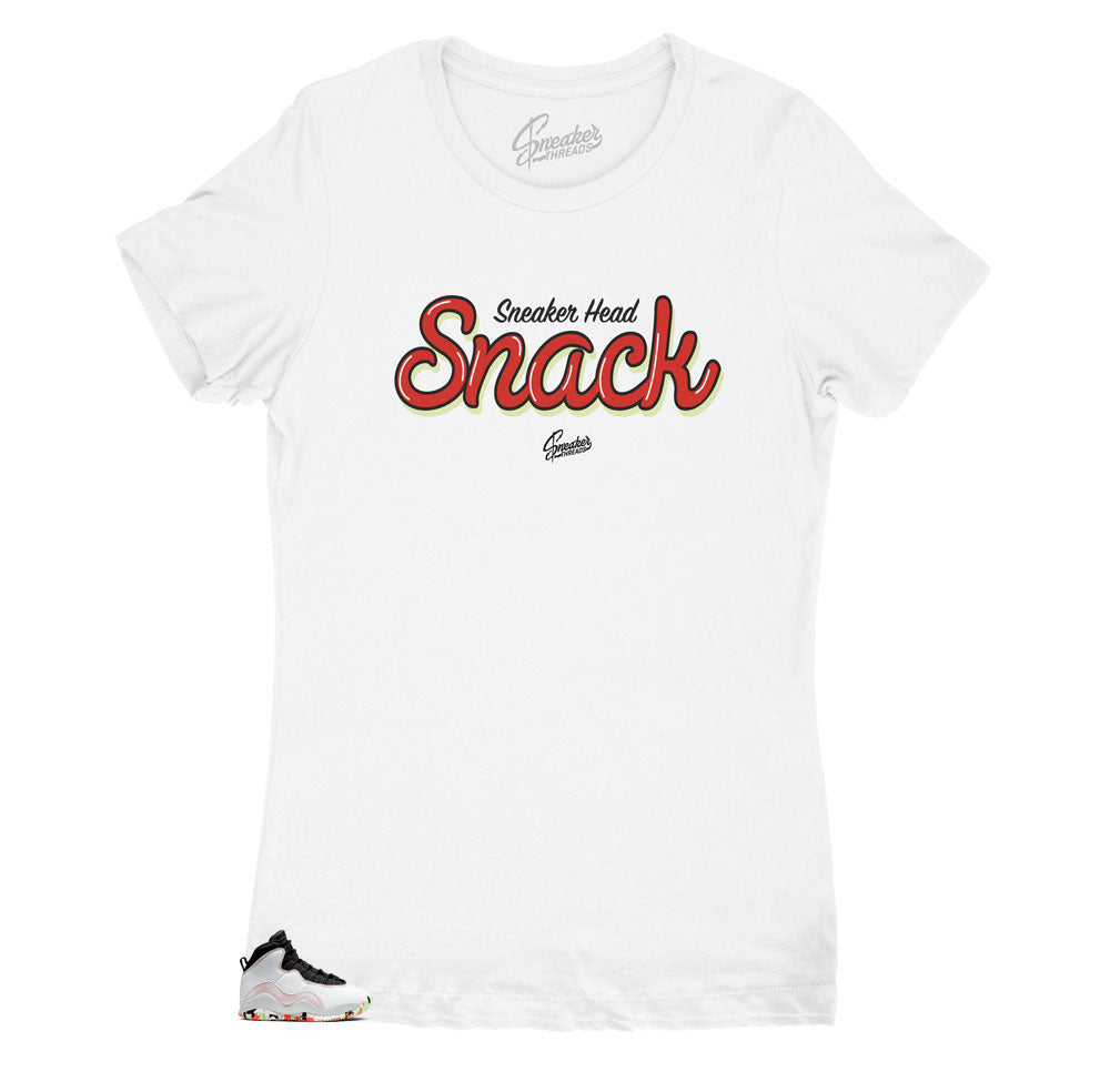 women shirts to match the Jordan 10 ember glow women sneakers