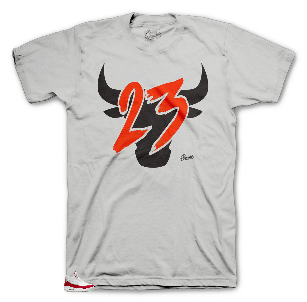 JTH Jordan 3 university red tinker sneaker has matching tee designed to match the Jordan 3 JTH sneaker