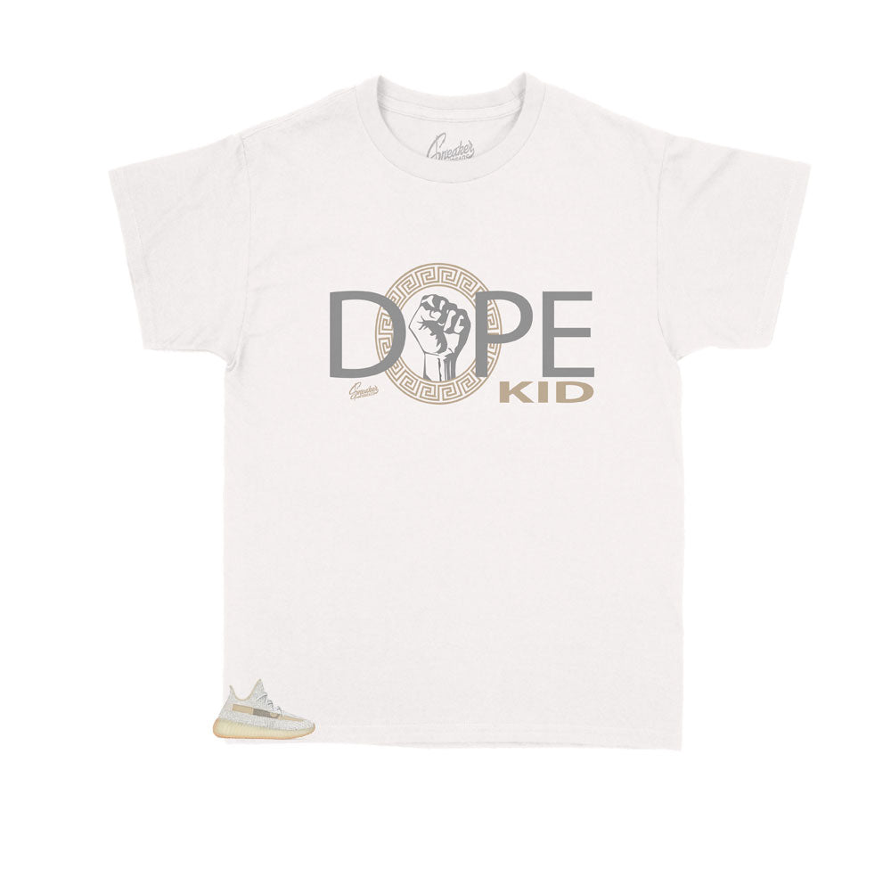 Skids shirts designed to match the yeezy kids boost sneaker 350 Lundmark collection