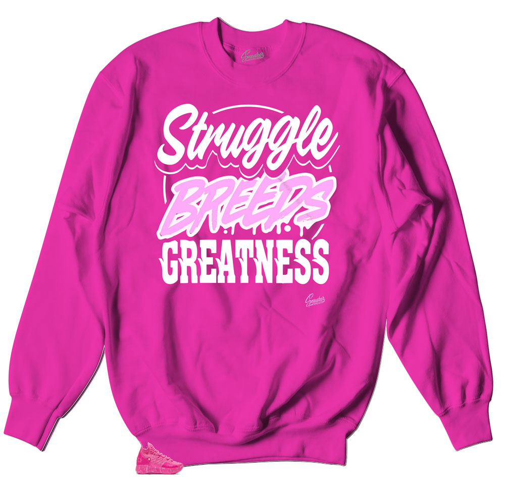crewneck sweater collection made to match KD 11s Aunt Pearl sneakers