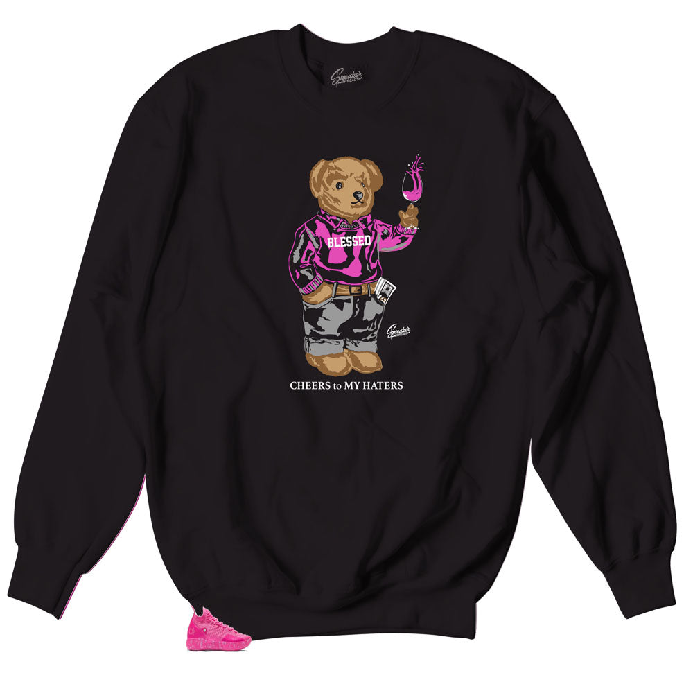 crewneck sweater collections designed to match KD 11 aunt pearl sneakers for breast cancer awareness
