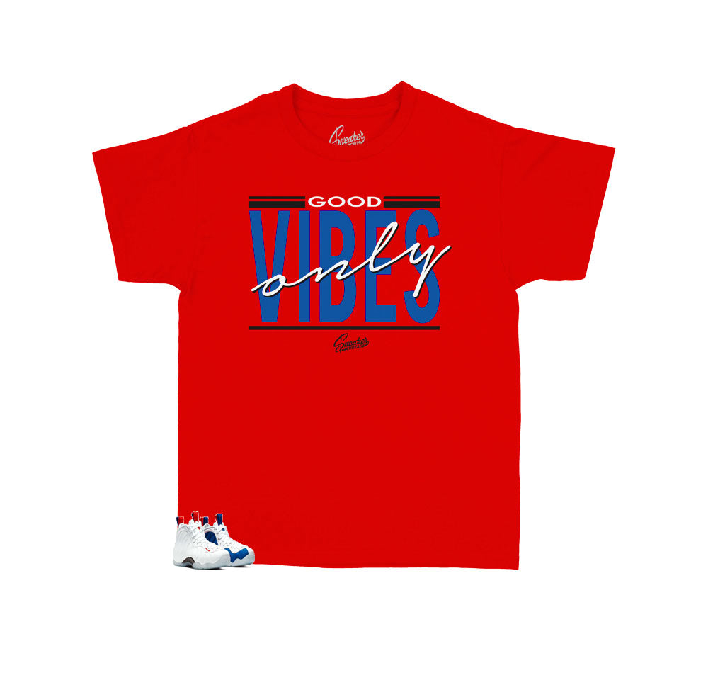 Kids -  Foamposite USA Vibes Shirt