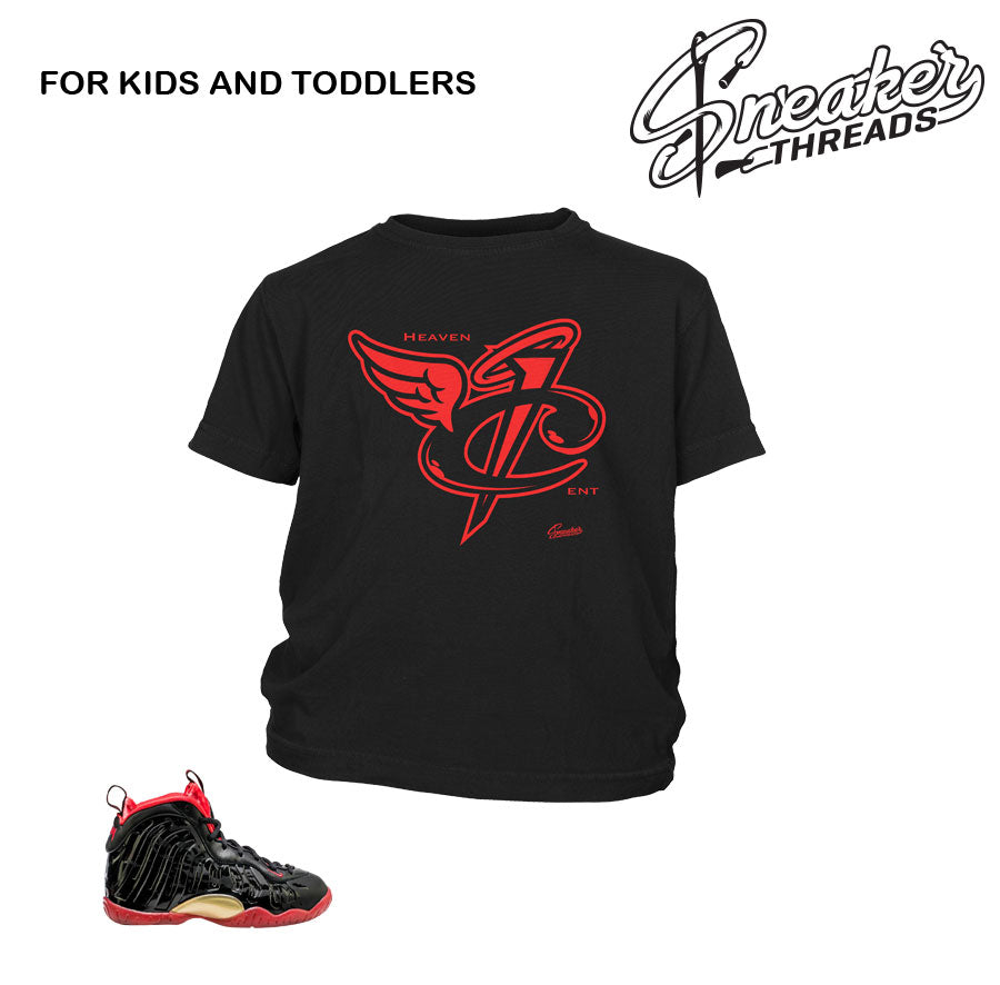 24274c51876be3 Kids Toddlers Sneaker Jordan Shirts   Kids Foamposite Sneaker Tees
