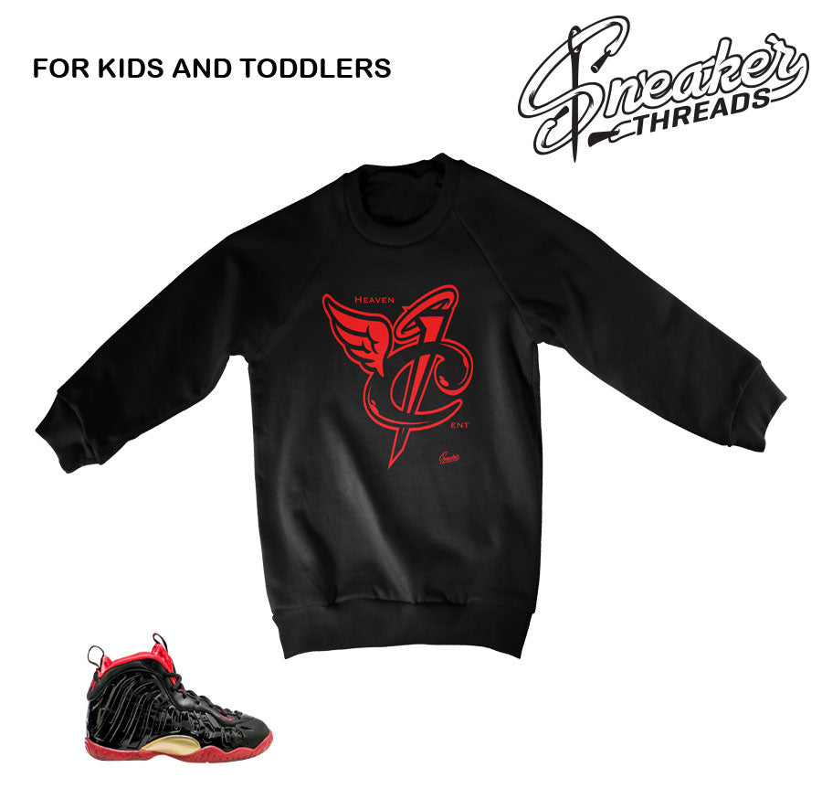 Vamposite sweaters match foam dracula kids and toddler shoes.