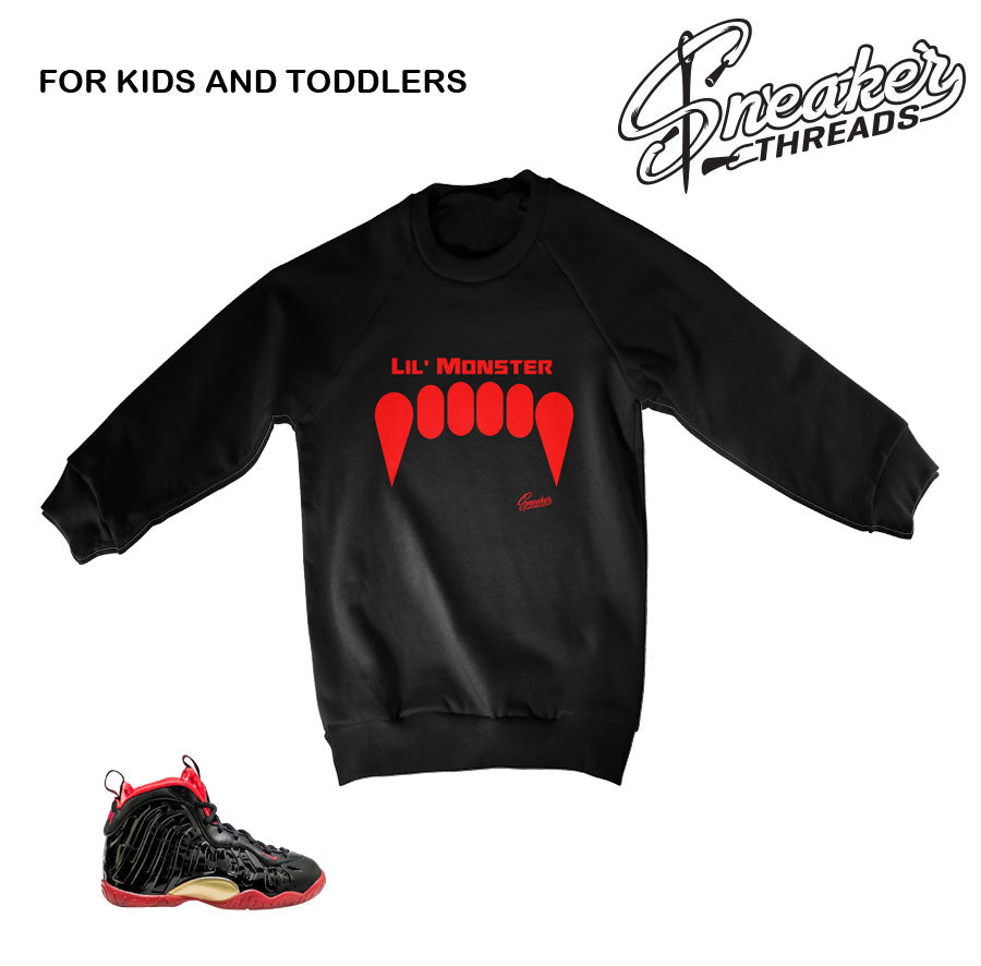 Kids Vamposite sweaters match foam dracula shoes.
