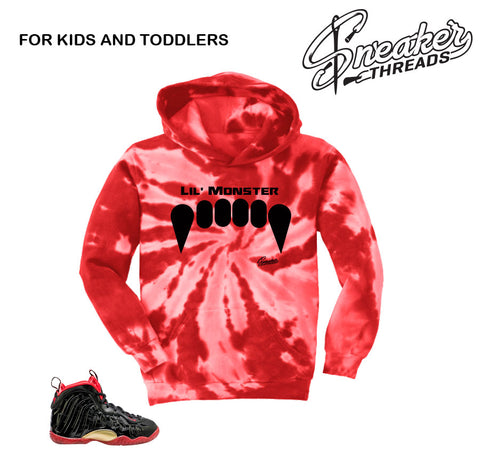 Kids Vamposite hoodies match foam dracula lil posite shoes.