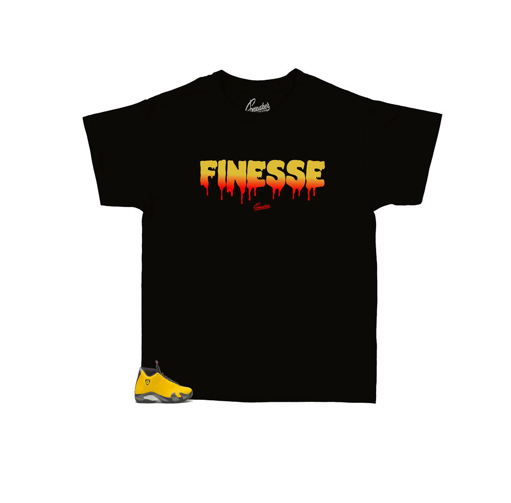 Boys sneaker tees match Jordan 14 reverse ferrari shoes | Kids tees.