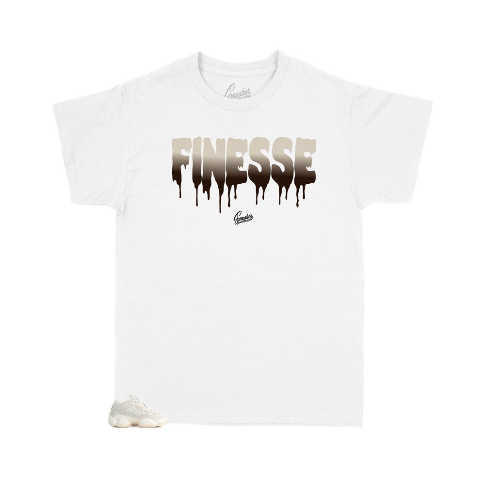 Childrens tees designed to match perfectly with the yeezy sneaker bone 500 collection
