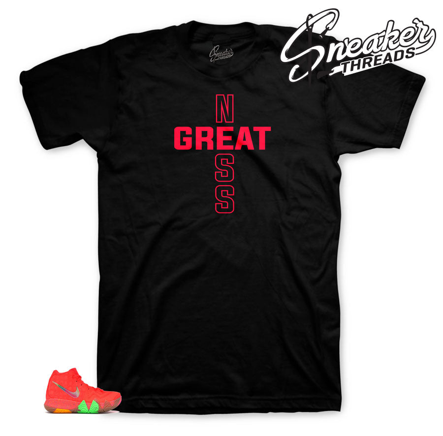 Greatness Cross shirt to match Kyrie Fruity Pebbles 4's