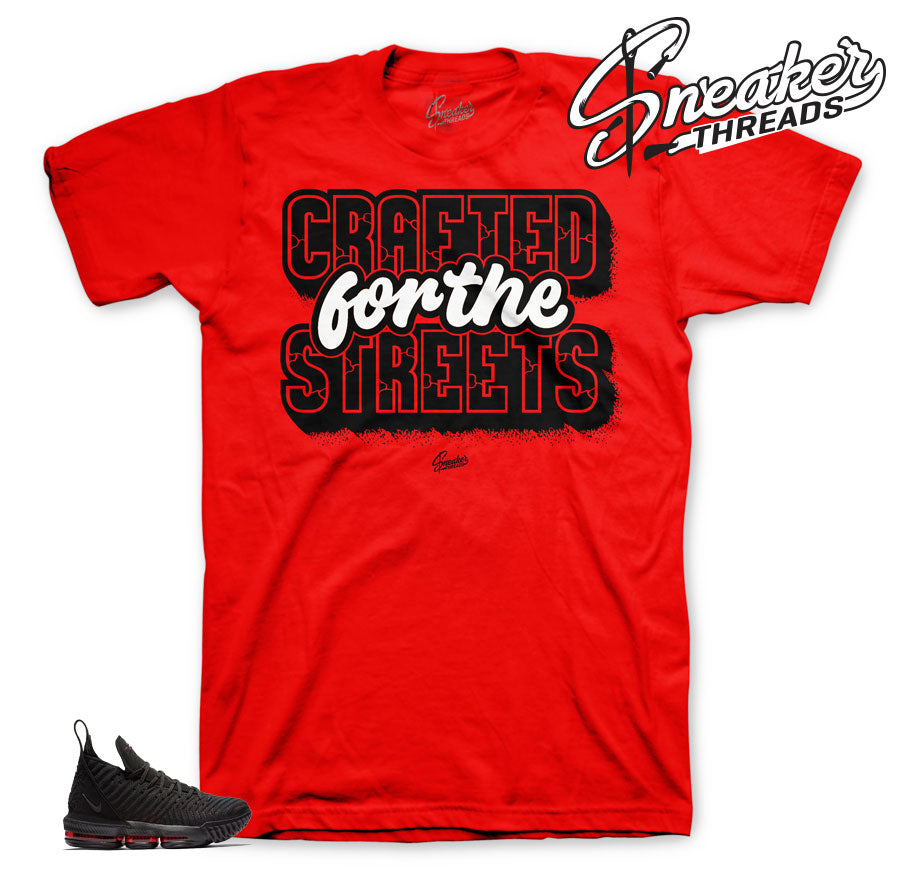 Lebron 16 bred sneaker tees match lebron 16 shoes.