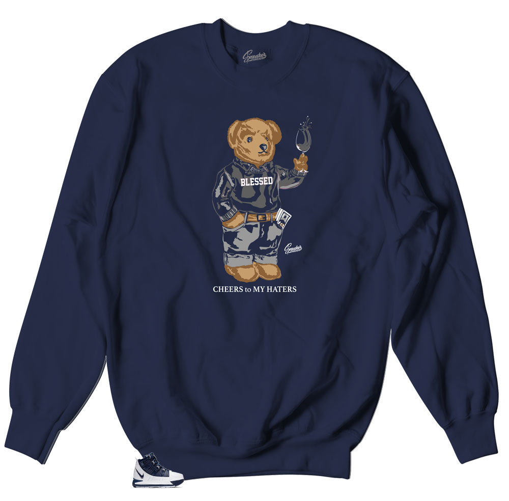 Crewneck sweater collection designed to match Lebron IIIMidnight Navy sneakers