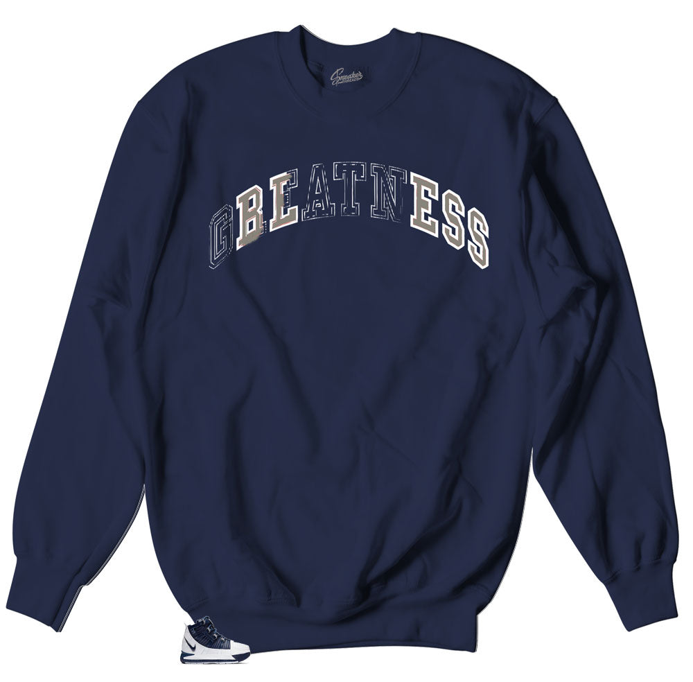 Lebron III midnight navy sneaker collection matches sweater collection made to match Lebron III Midnight navy