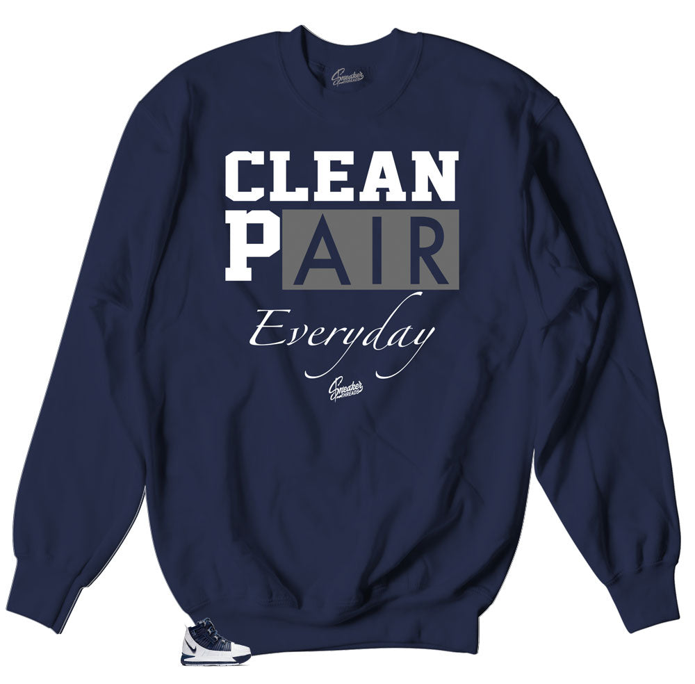 crewneck sweater collection matching the Lebron III midnight navy sneakers