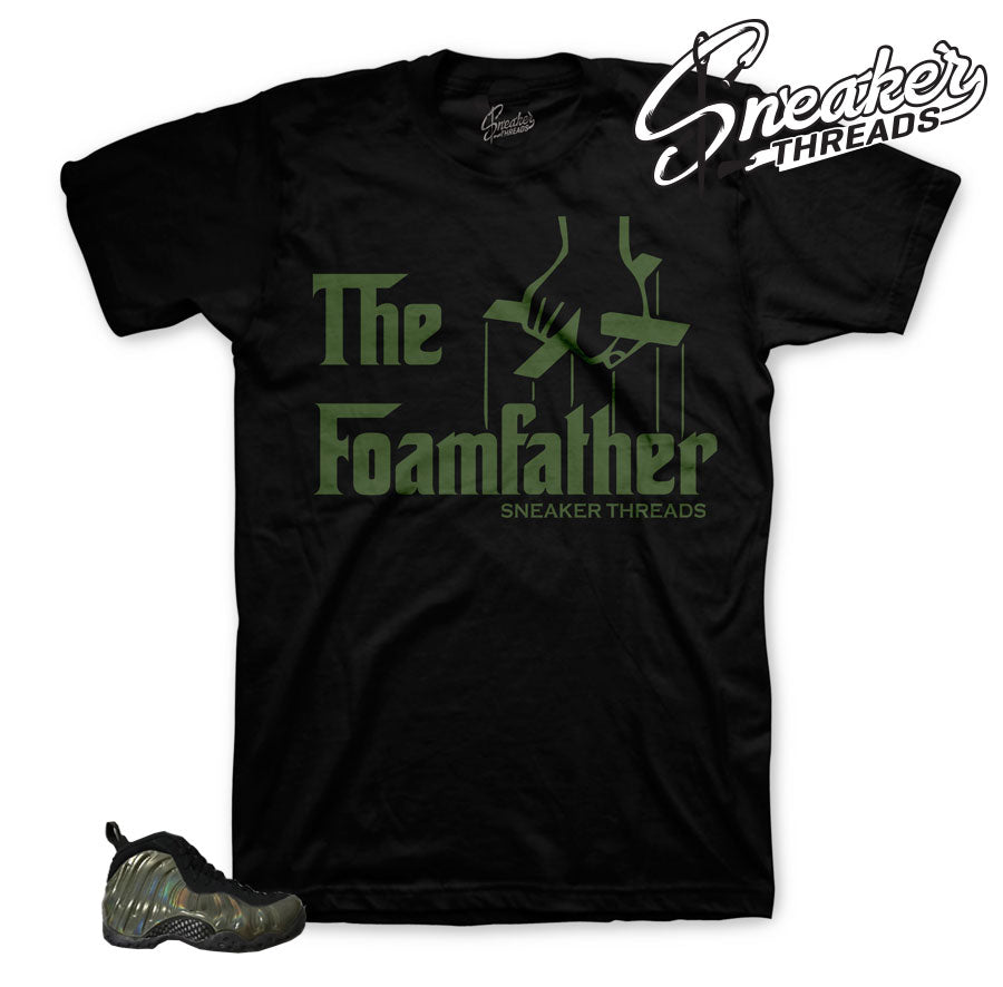 Legion green foamposite tees match foam sneaker tees.