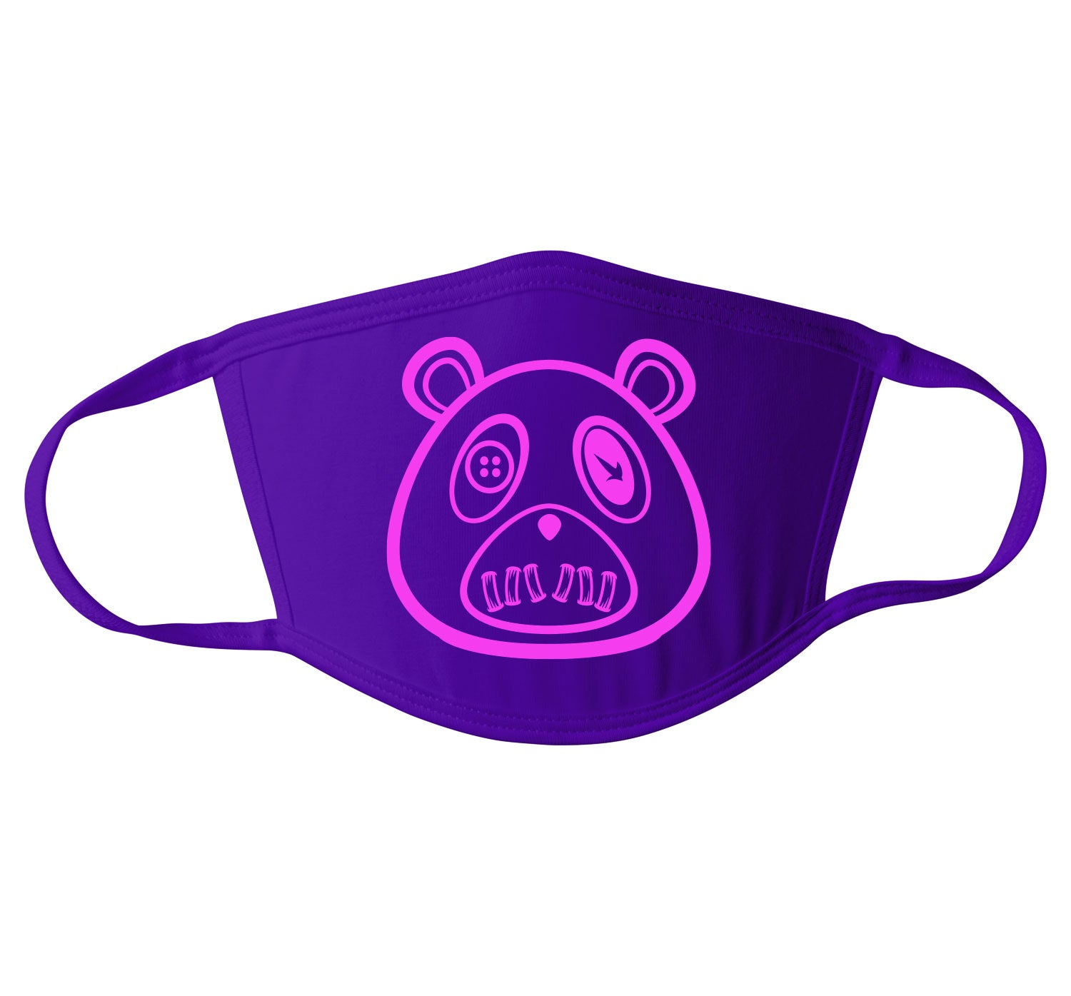 Adult Face Mask - ST Bear - Purple