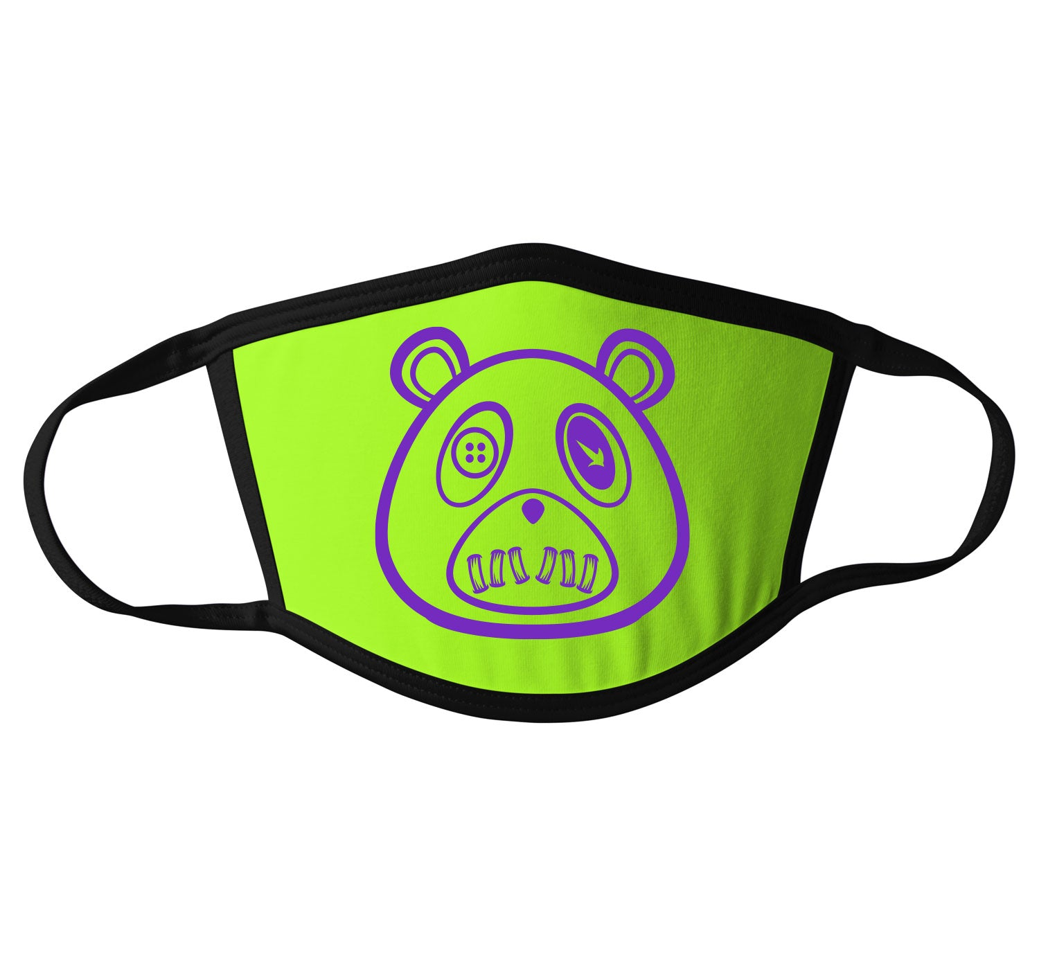 Adult Face Mask - ST Bear - Neon Green