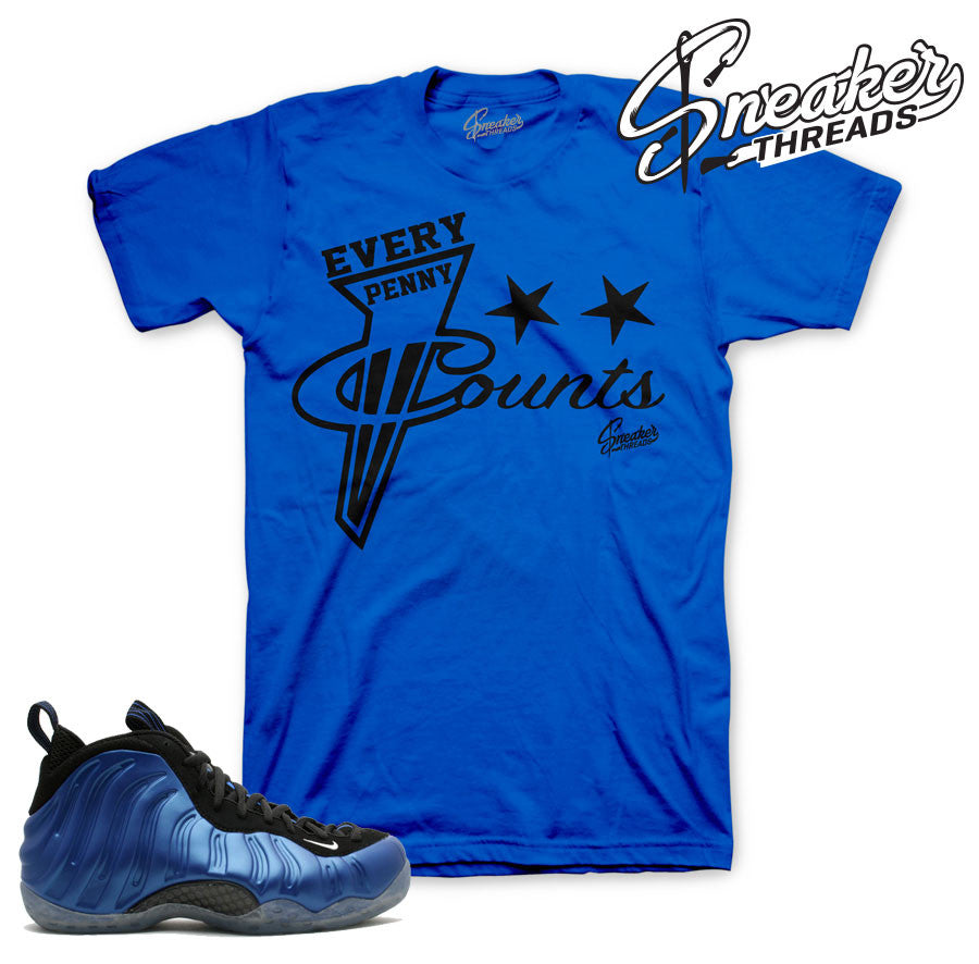 Foamposite one royal t-shirts match foam sneaker tees.