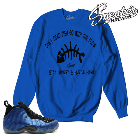 Match foamposite royal sweatshirts foam sneaker match crews.