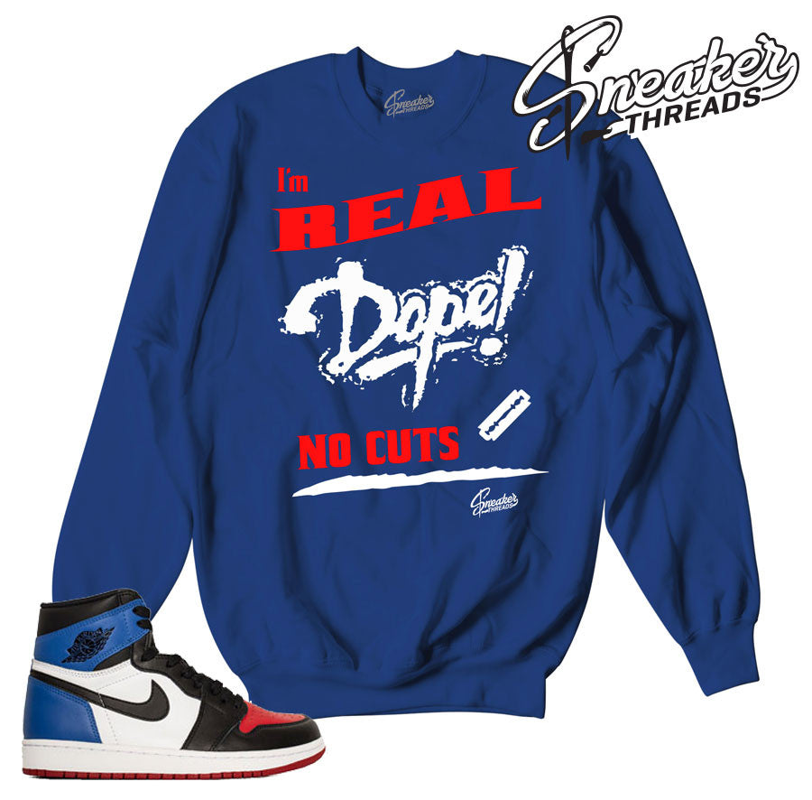 Jordan 1 top 3 sweatshirts match retro 1 top 3 sweater.