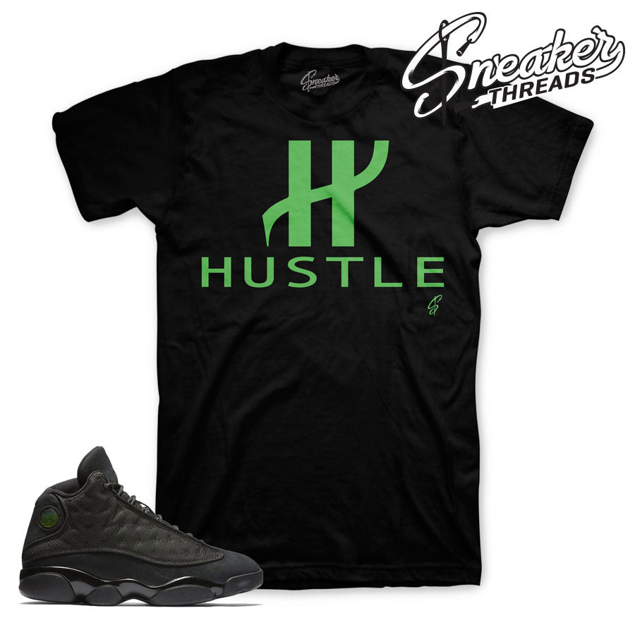 Match Jordan 13 black cat shirts retro 13 black cat tees.