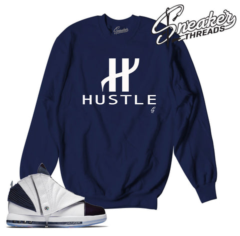 Jordan 16 Navy Big H Sweater
