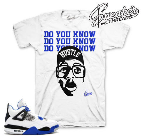 Match Jordan 4 motorsport shirts retro 4 varsity blue tees.
