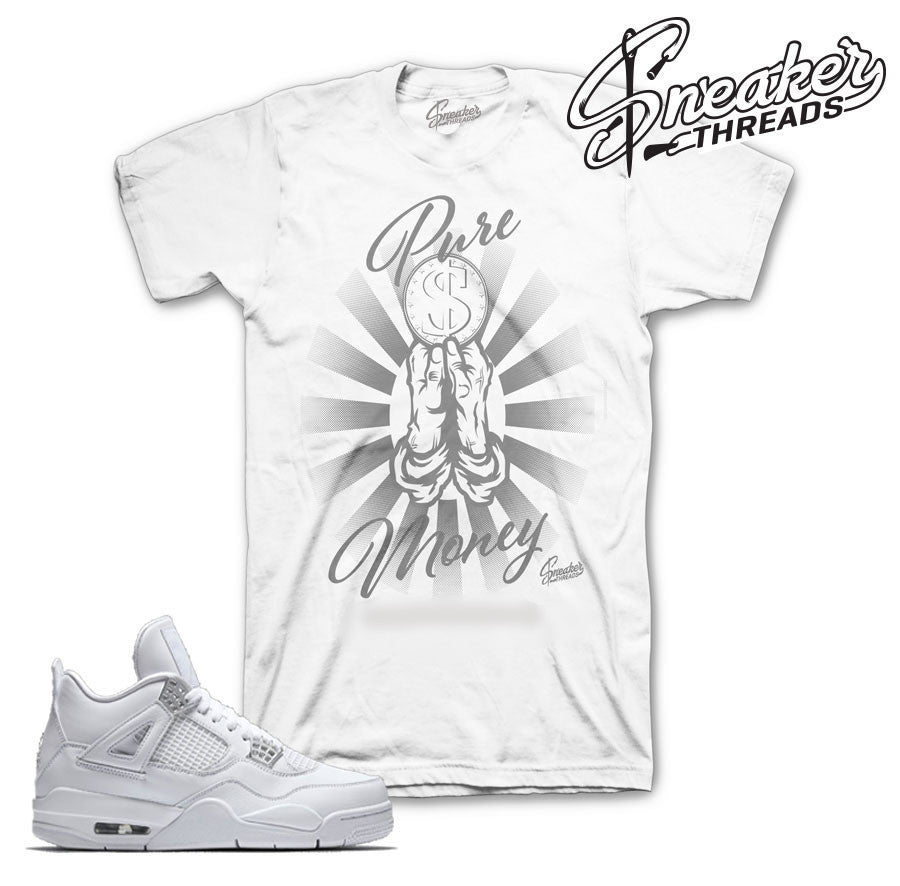 Jordan 4 pure money tees match retro 4 sneaker match t-shirts.