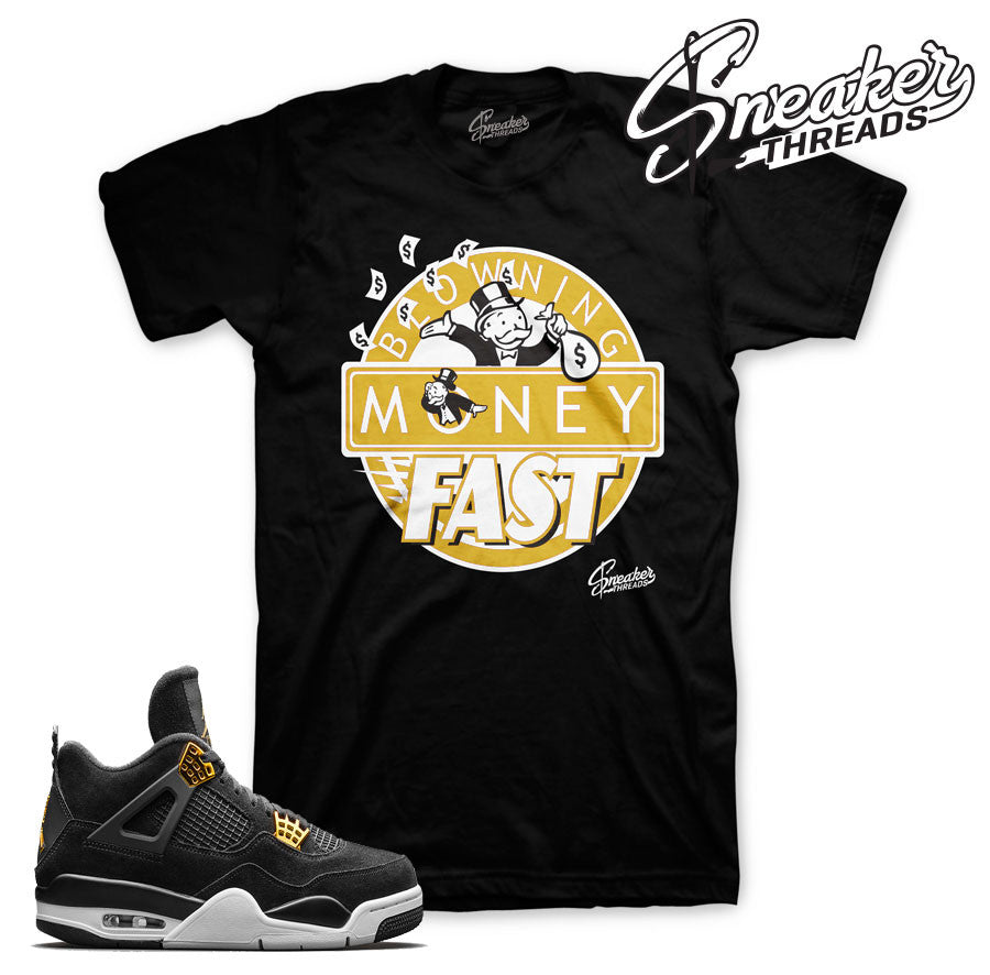 Tee match Jordan 4 royalty sneaker tees. Sneaker threads.