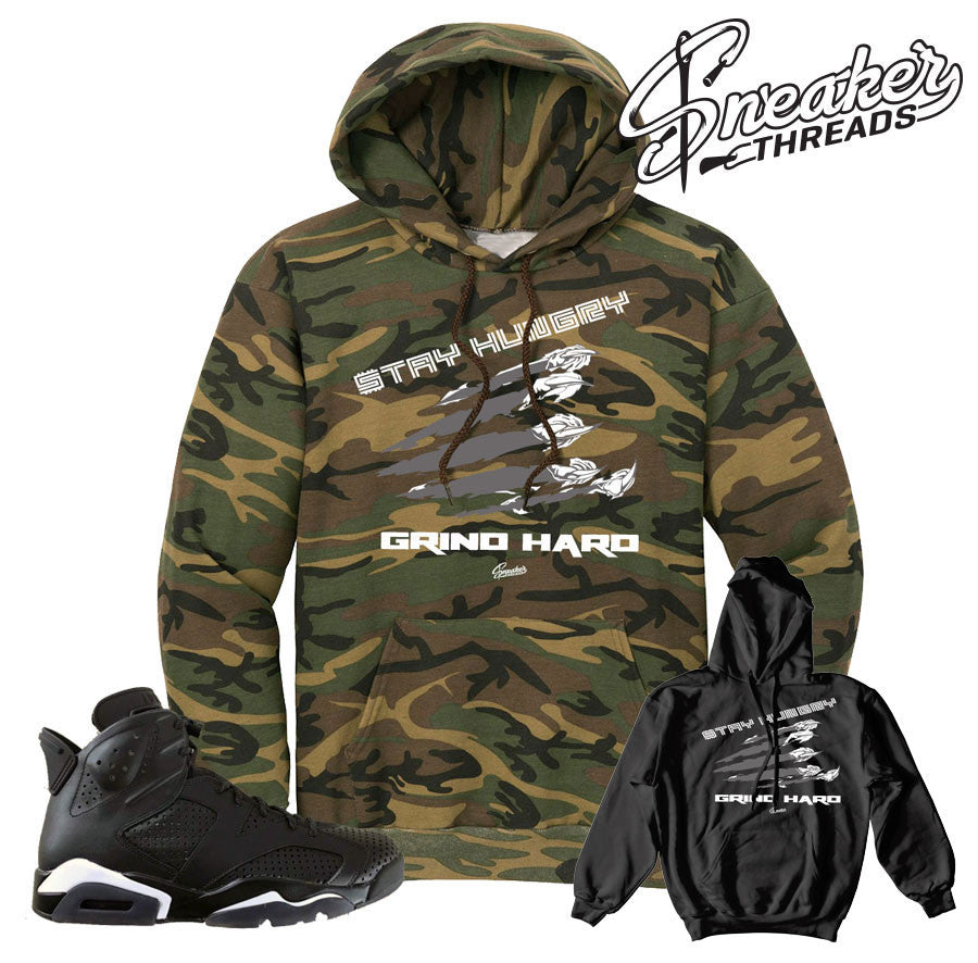 sale retailer 137f7 eda4c Home Jordan 6 Black Cat Stay Hungry Hoody. Share