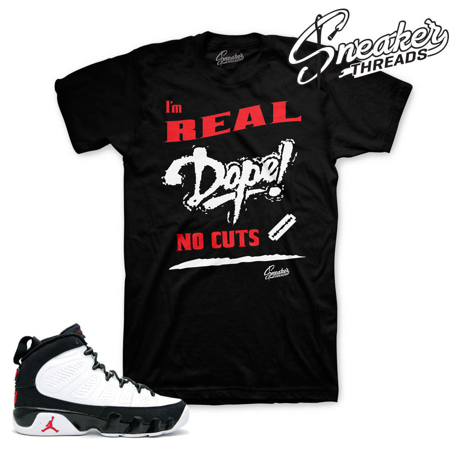 Match jordan 9 space jam OG retro 9 sneaker tees shirts.