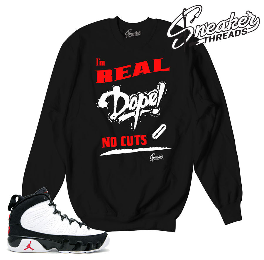 save off b1c64 c43ba Jordan 9 OG No Cuts Sweater