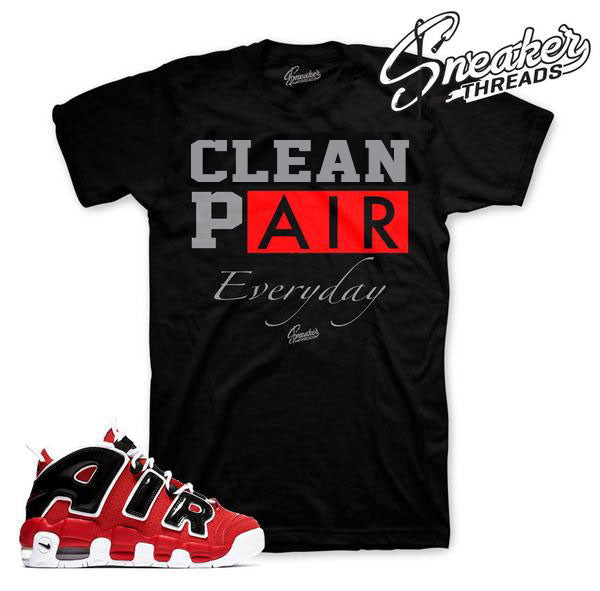 Tees match more uptempo chicago bulls sneaker shirt.