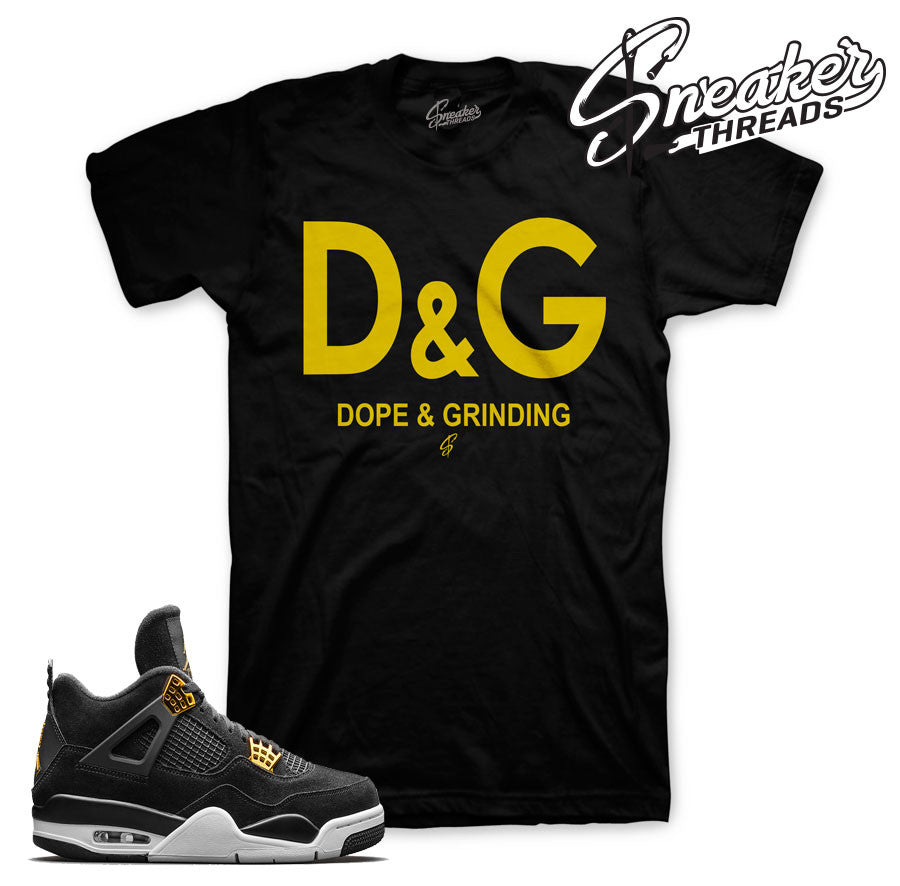 Royalty retro 4 sneaker tees. Royalty shirts match shoes.