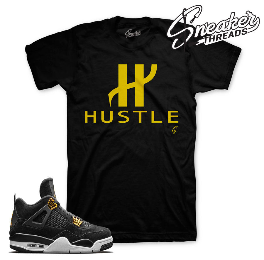 Sneaker tees match. Jordan 4 royalty tees.