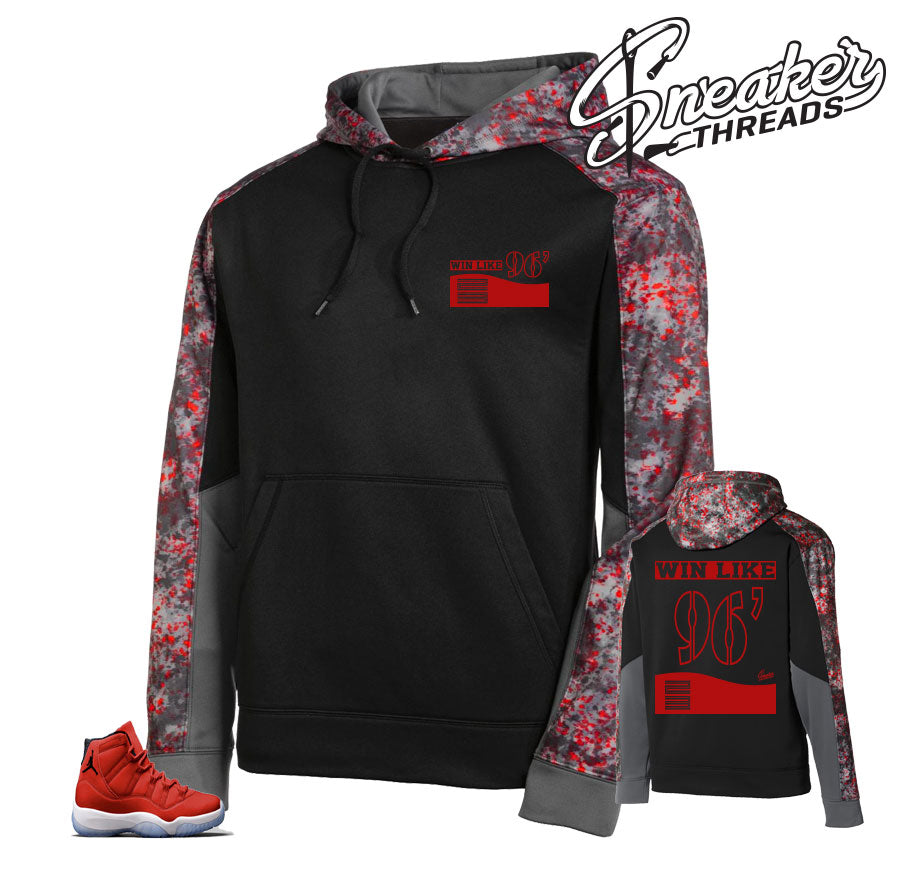 f5af29c58a0 The freshest hoodies to match Jordan 11 win like 96 gym red sneakers.