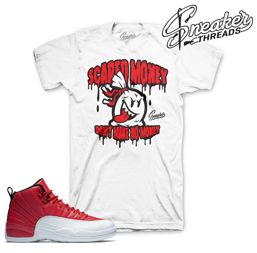 New Jordan 12 gym red shirts match retro 12 gym red sneaker tees.